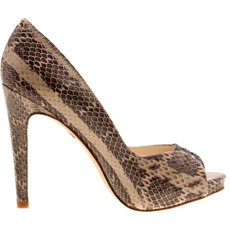 Cleo Genuine Python Snake Leather Ladies Shoes - natur