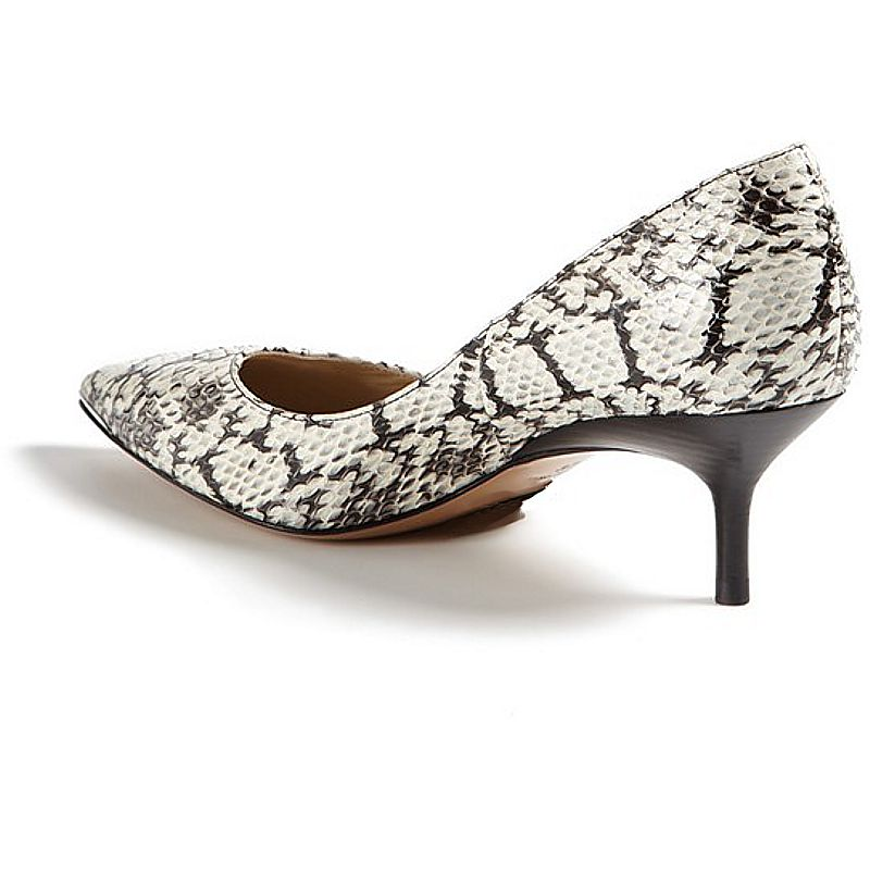 Dafne Genuine Python Snake Leather Ladies Shoes - natur