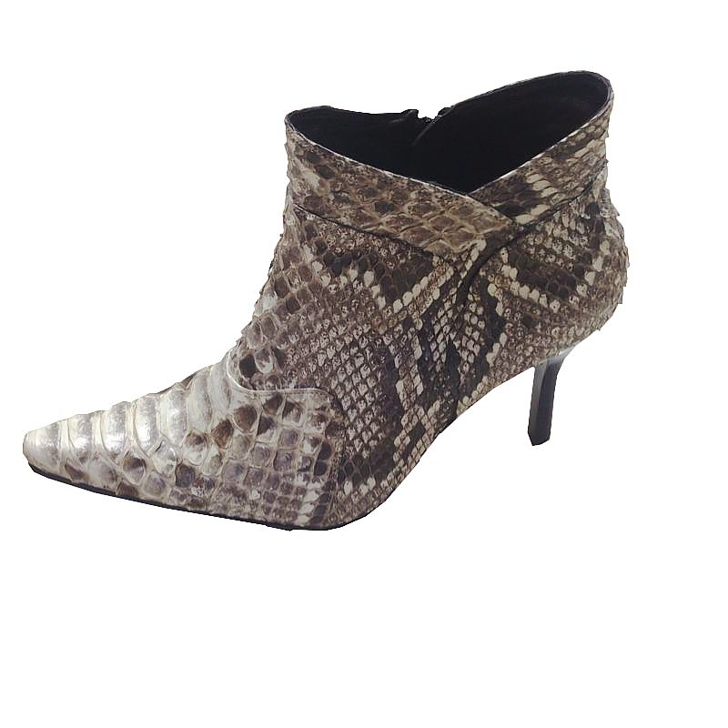 Gisella Genuine Python Snake Leather Ladies Boots 004