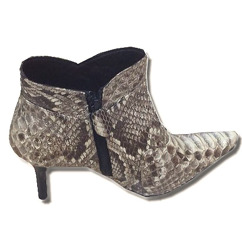 Gisella Genuine Python Snake Leather Ladies Boots - natur