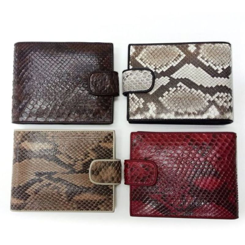 Genuine Python Snake Leather Mens Wallet - all colors