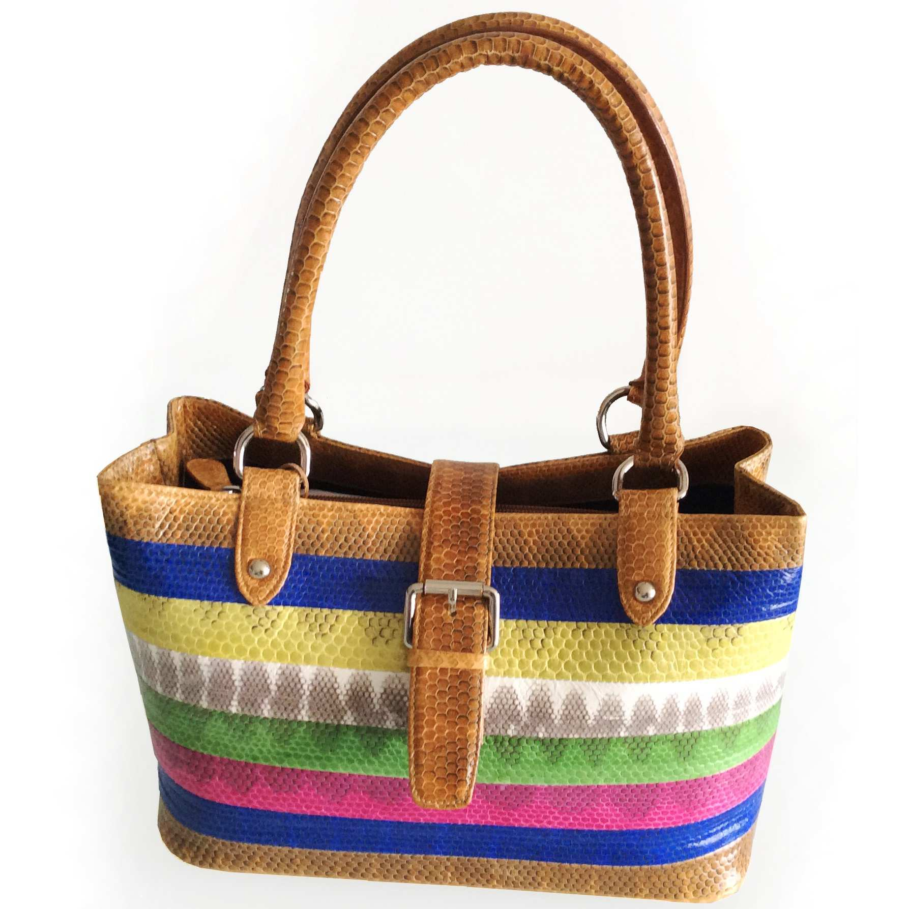 Theya Sea Snake Leather Ladies Handbag