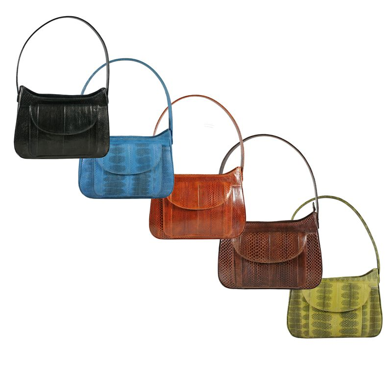 Andie Sea Snake Leather Ladies Shoulder Bag - all colors