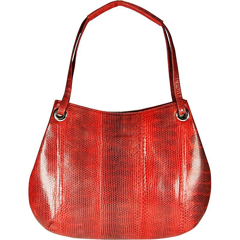 Clara Sea Snake Leather Hobo Bag
