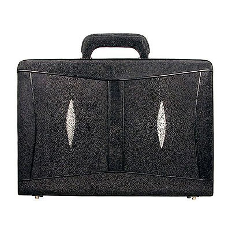 Alfio Genuine Stingray Leather Mens Briefcase