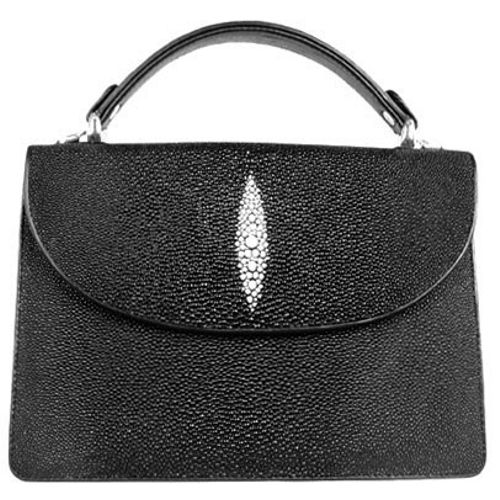 Diana Genuine Stingray Leather Bag - black