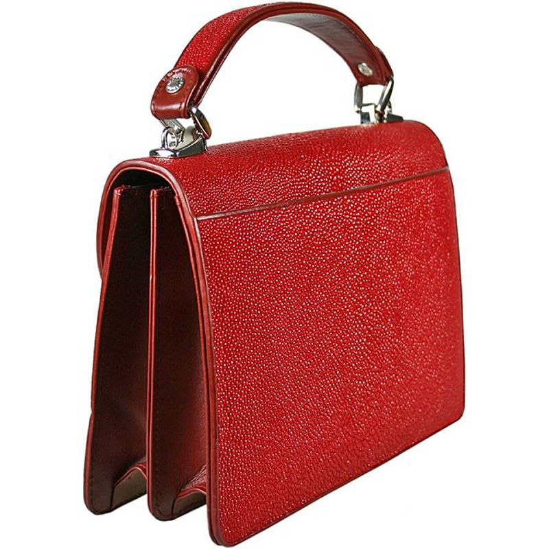 Diana Genuine Stingray Leather Bag - red
