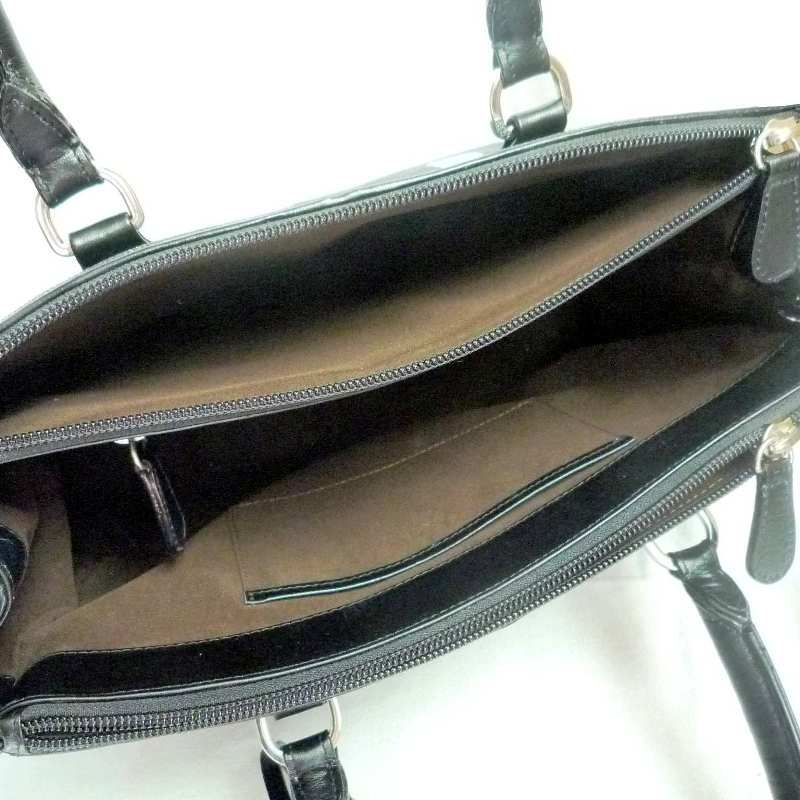 Jessica Genuine Stingray Leather Bag - black