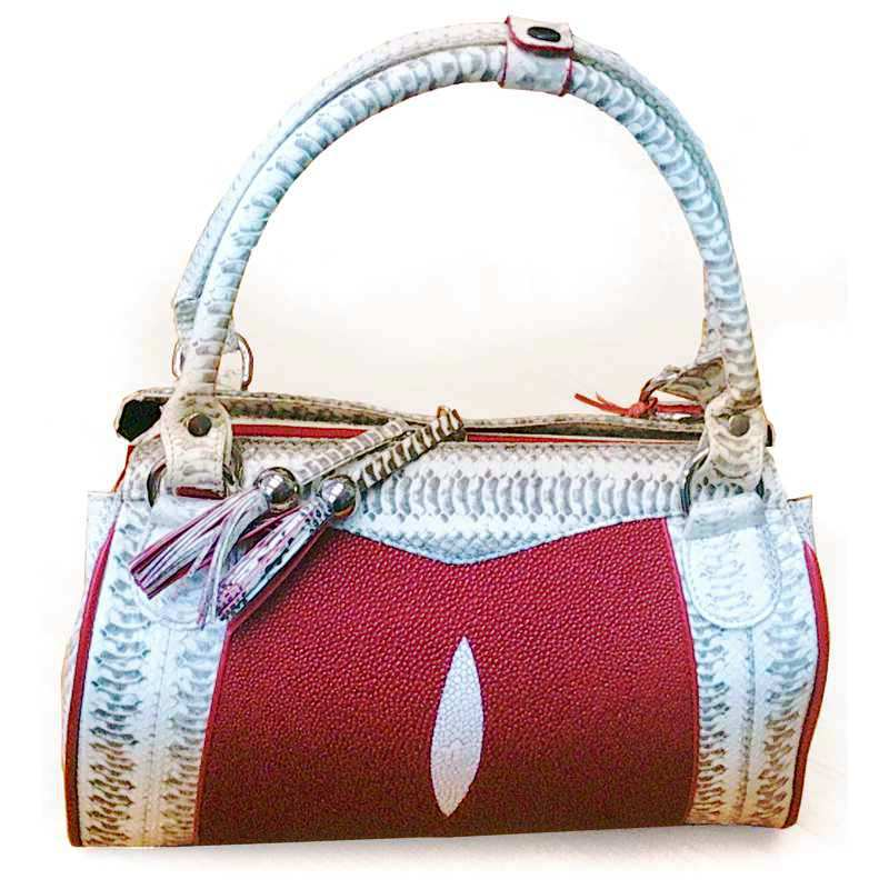 Cynthia Sea Snake/Stingray Leather Ladies Handbag