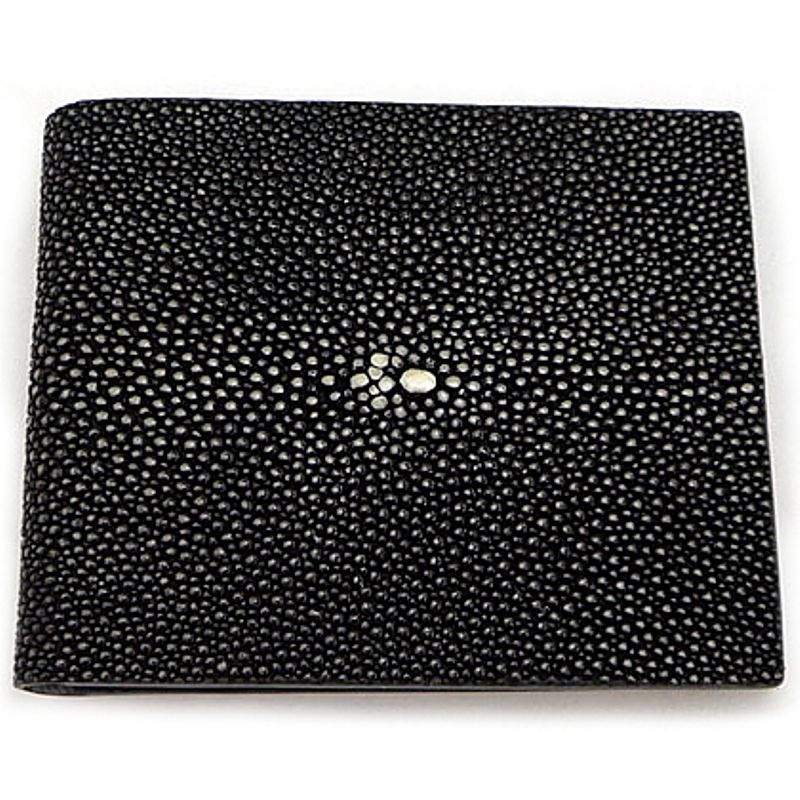 Genuine Stingray Leather Wallet - black