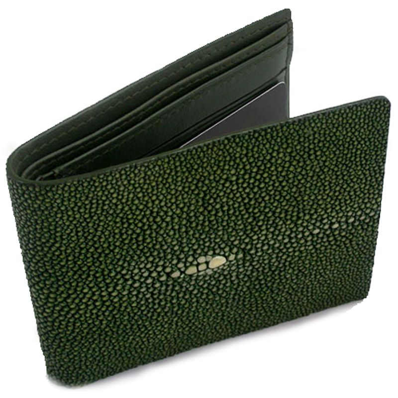 Genuine Stingray Leather Wallet - green
