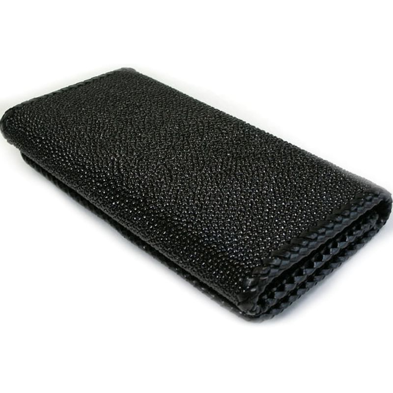 Genuine Stingray Leather Ladies Wallet - black