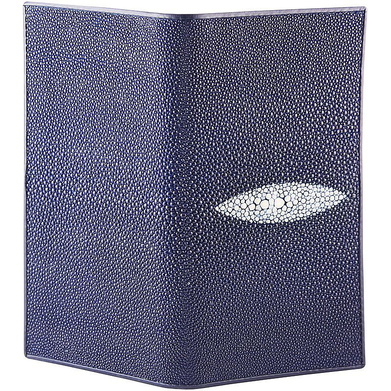 Genuine Stingray Leather Ladies Wallet - blue
